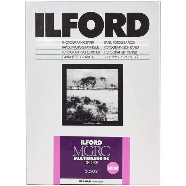 photo Ilford Papier Multigrade IV RC de luxe - Surface Brillante - 30.5 x 40.6 cm - 50 feuilles (MGD.1M)