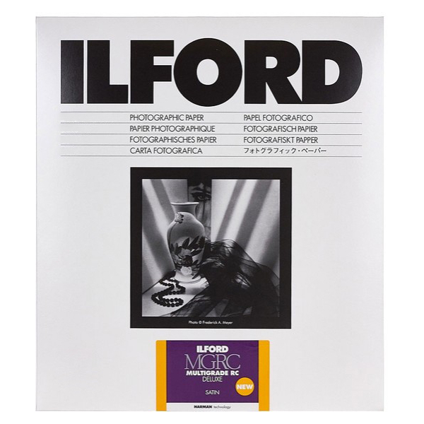 photo Ilford Papier Multigrade IV RC de luxe - Surface Satinée - 30.5 x 40.6 cm - 50 feuilles (MGD.25M)