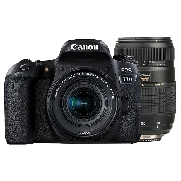 photo Canon EOS 77D + 18-55mm IS STM + Tamron 70-300mm