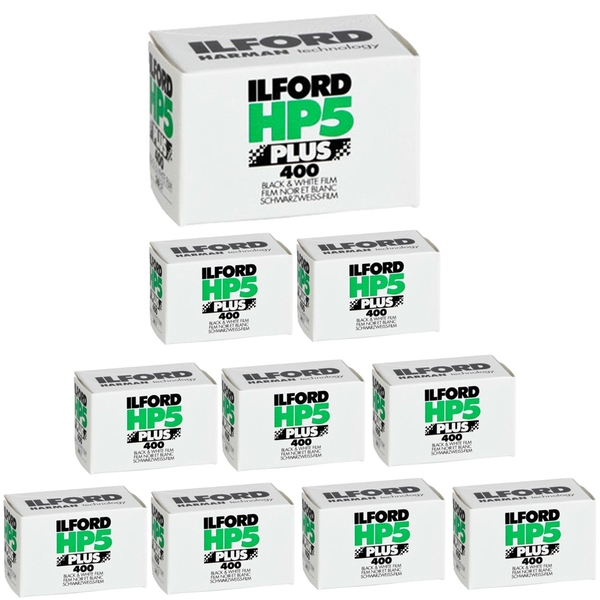 photo Ilford Kit de 10 films noir & blanc HP5 Plus 400 135 - 36 poses