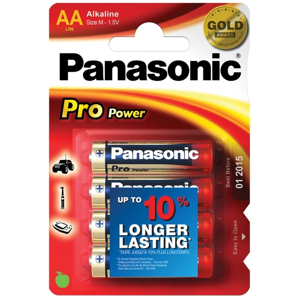 photo Panasonic 4 piles AA Pro Power 1.5V