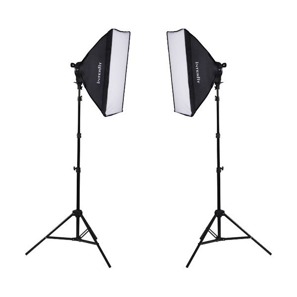 photo Interfit Kit lumière continue F5 - 2 x 800W - INT502