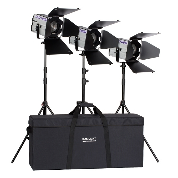 photo Hedler Kit 3 torches Fresnel Profilux LED 1000 - HED5601