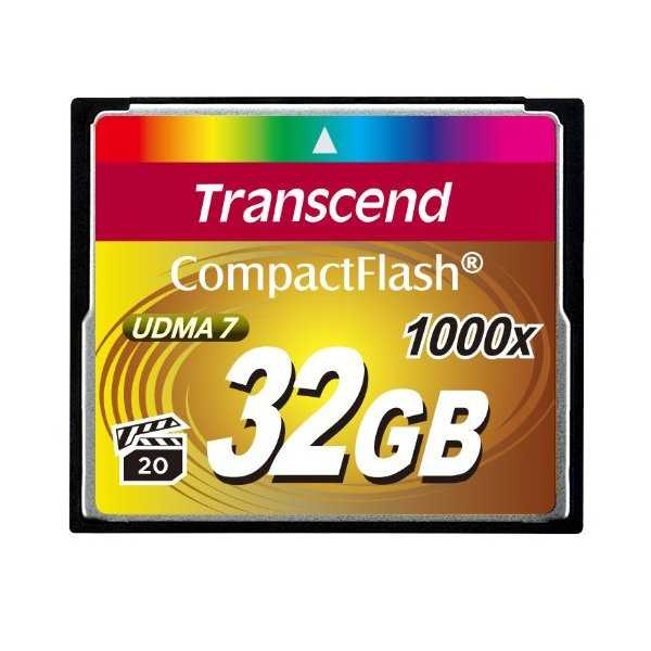 photo Transcend CompactFlash Ultimate 32 Go 1000x (160MB/s)