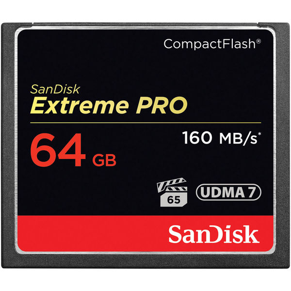 photo SanDisk CompactFlash 64 Go Extreme Pro 1060x (160 Mb/s)