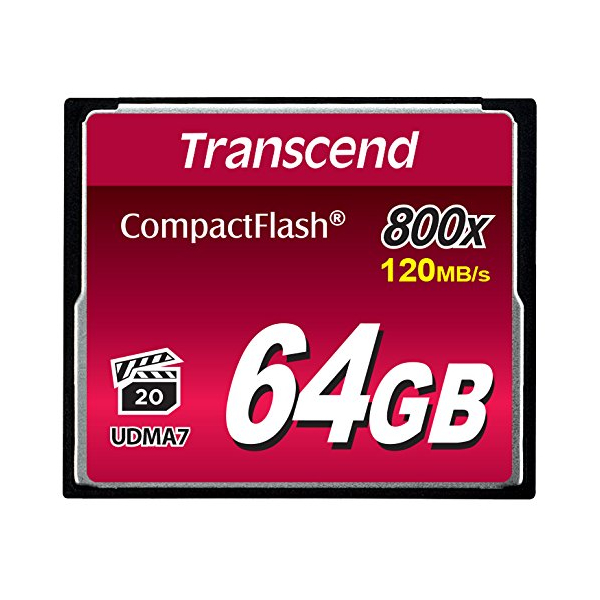 photo Transcend CompactFlash 64 Go 800x (120Mb/s)