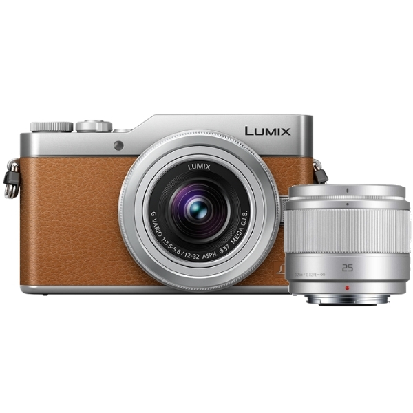 photo Panasonic Lumix DC-GX800 Marron + 12-32mm + 25mm f/1.7
