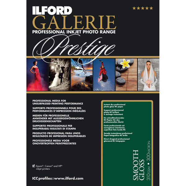 photo Ilford Galerie Prestige Smooth Gloss Paper (10.2 x 15.2 cm) 290gr - 100 feuilles