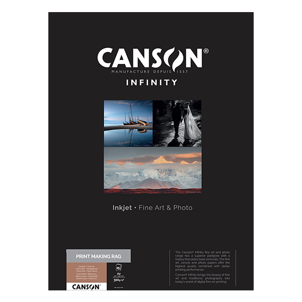 photo Canson Infinity PrintMaking Rag 310g/m² A2 25 feuilles - 206111009