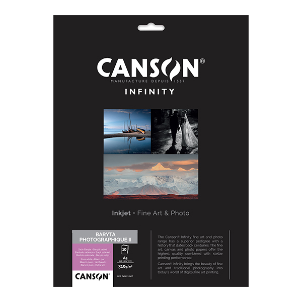 photo Canson Infinity Baryta Photographique 310g/m² A4 10 feuilles - 200002289
