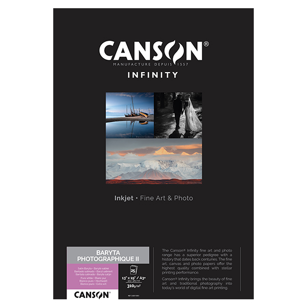 photo Canson Infinity Baryta Photographique 310g/m² A3+ 25 feuilles - 200002277