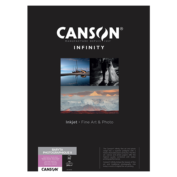 photo Canson Infinity Baryta Photographique 310g/m² A2 25 feuilles - 200002275