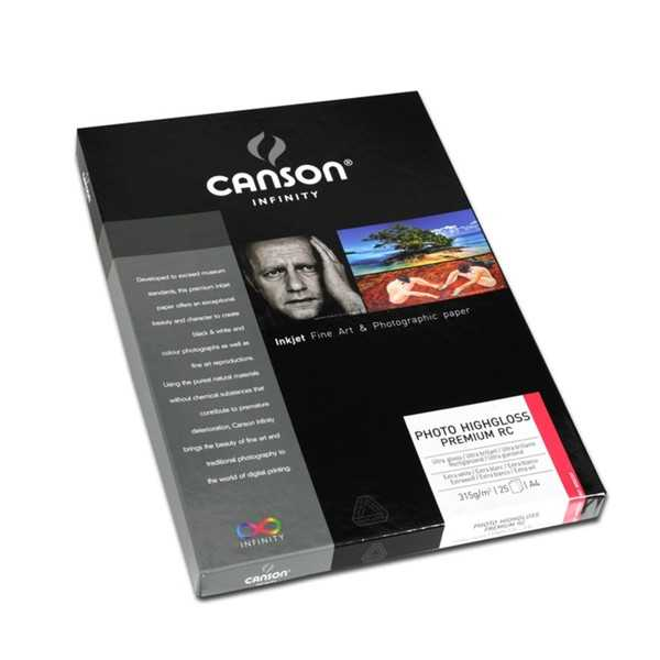 photo Canson Infinity Photo High Gloss Premium RC 315gm² A4 25 feuilles - 200002287