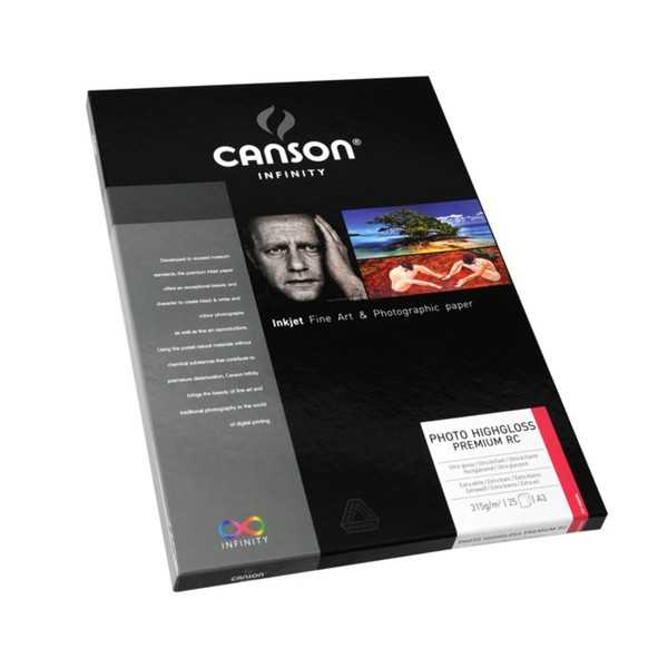 photo Canson Infinity Photo High Gloss Premium RC 315gm² A3 25 feuilles - 200002285