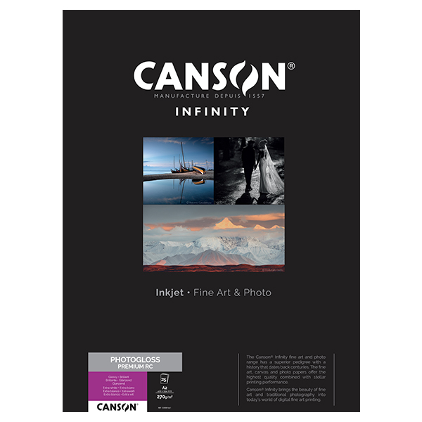 photo Canson Infinity Photo Gloss Premium RC 270gm² A2 25 feuilles - 200001661