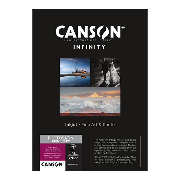 photo Canson Infinity Photo Satin Premium RC 270gm² A4 25 feuilles - 206231009