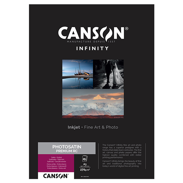 photo Canson Infinity Photo Satin Premium RC 270gm² A3 25 feuilles - 206231010