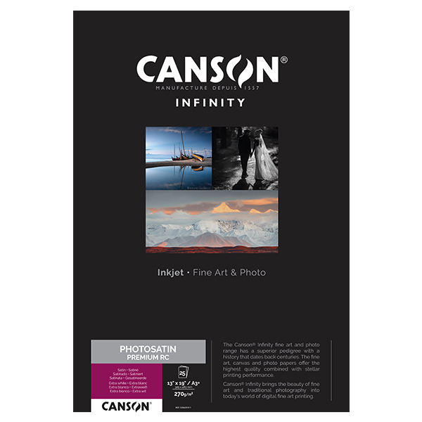 photo Canson Infinity Photo Satin Premium RC 270gm² A3+ 25 feuilles - 206231011