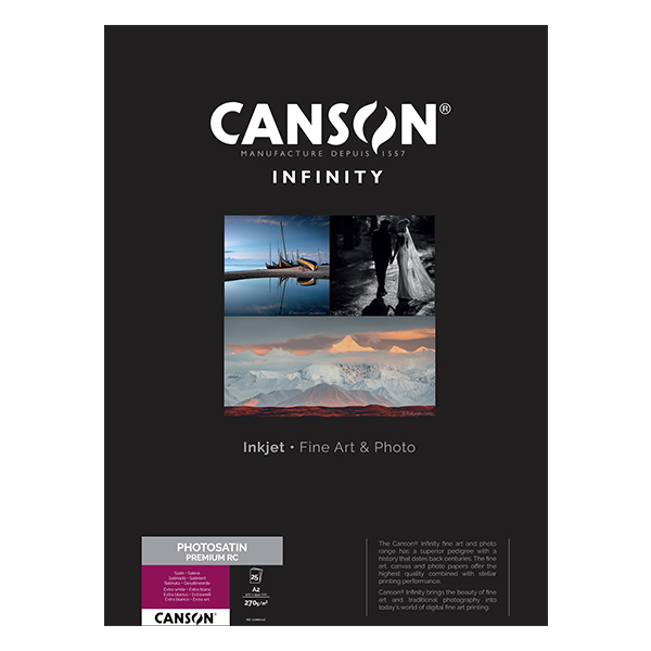 photo Canson Infinity Photo Satin Premium RC 270gm² A2 25 feuilles - 200001663