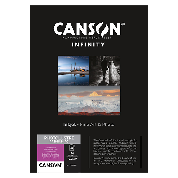 photo Canson Infinity Photo Lustre 310g/m² A4 25 feuilles - 400049112