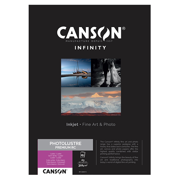 photo Canson Infinity Photo Lustre 310g/m² A3 25 feuilles - 400049113