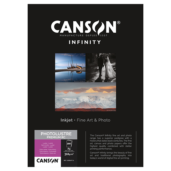 photo Canson Infinity Photo Lustre 310g/m² A4 200 feuilles - 400049116