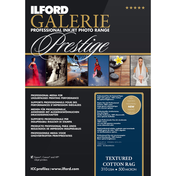 photo Ilford Galerie Prestige Textured Cotton Rag - A3+ - 310g - 25F