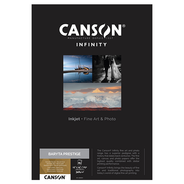photo Canson Infinity Baryta Prestige A3+ 340g/m² Blanc 25 feuilles - 400083931