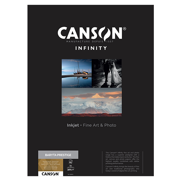 photo Canson Infinity Baryta Prestige A2 340g/m² Blanc 25 feuilles - 400083932