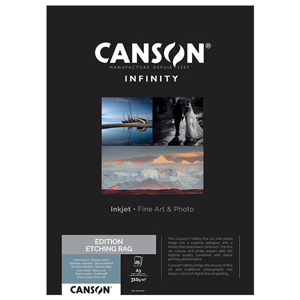 photo Canson Infinity Edition Etching Rag 310g/m² A3 25 feuilles - 206211007
