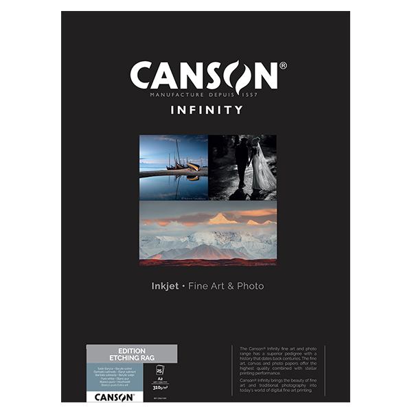 photo Canson Infinity Edition Etching Rag 310g/m² A2 25 feuilles - 206211009