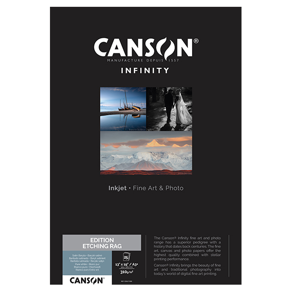 photo Canson Infinity Edition Etching Rag 310g/m² A3+ 25 feuilles - 206211008