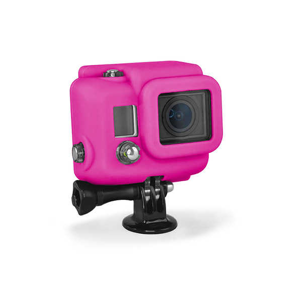photo XSories Housse silicone cover HD magenta pour HERO 3