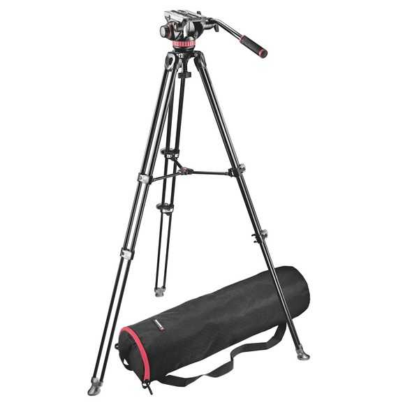 photo Manfrotto KIT trépied vidéo MVT502AM + rotule vidéo MVH502A - MVK502AM-1