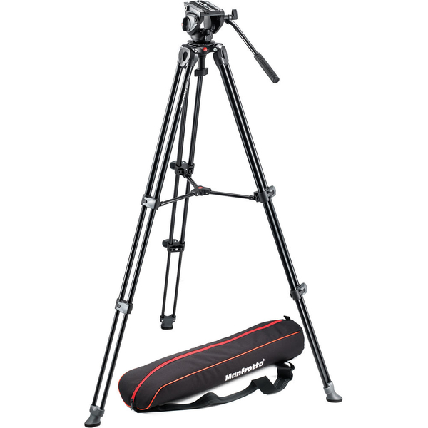 photo Manfrotto KIT trépied vidéo MVT502AM + Rotule 500 avec Bol 60mm - MVK500AM