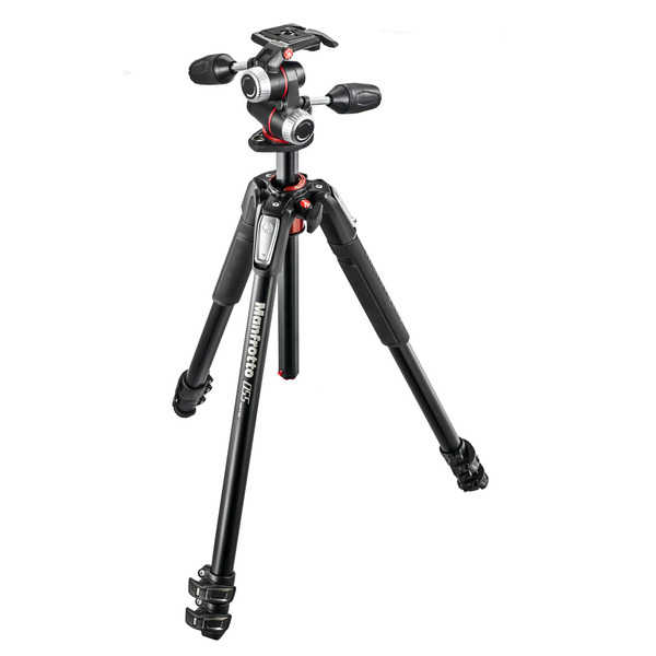 photo Manfrotto KIT Trépied série 055 aluminium 3 sections + rotule 3D - MK055XPRO3-3W