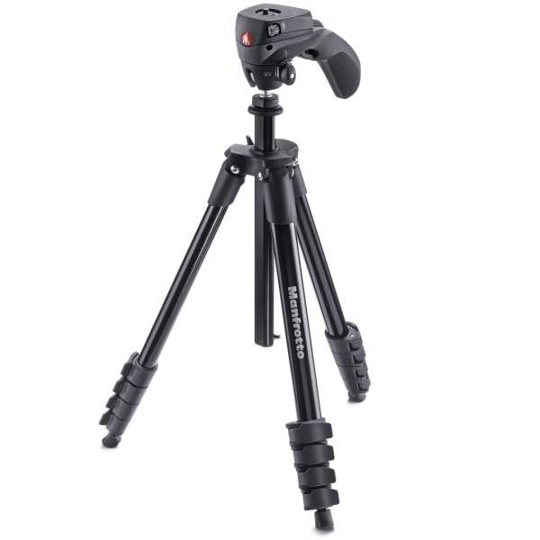 photo Manfrotto Compact Action + rotule joystick - Noir