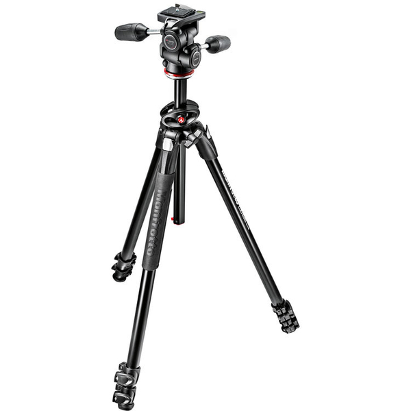 photo Manfrotto KIT Trépied 290 Dual aluminium 3 sections + rotule 3D - MK290DUA3-3W
