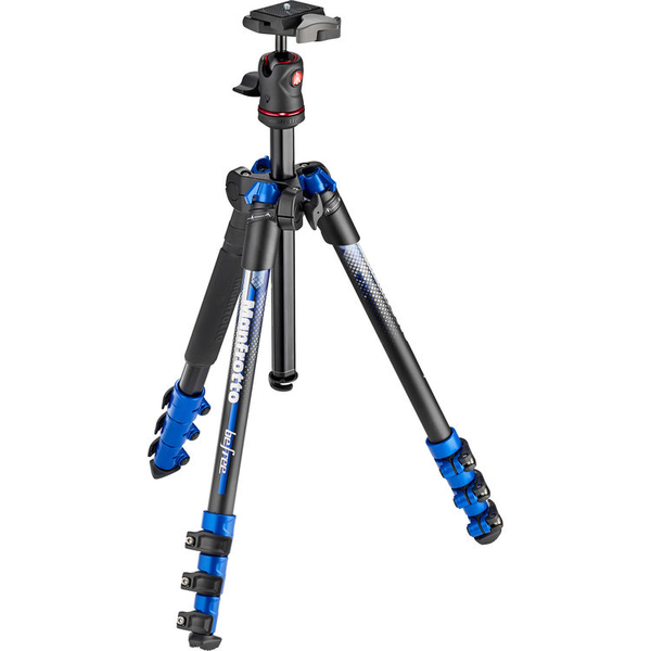 photo Manfrotto KIT Trépied BeFree bleu v2 + rotule ball  - MKBFRA4BL-BH