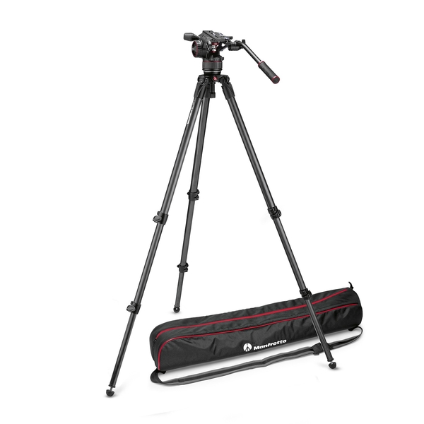 photo Manfrotto KIT trépied vidéo carbone 535 + rotule fluide NitroTech N8 - MVKN8C
