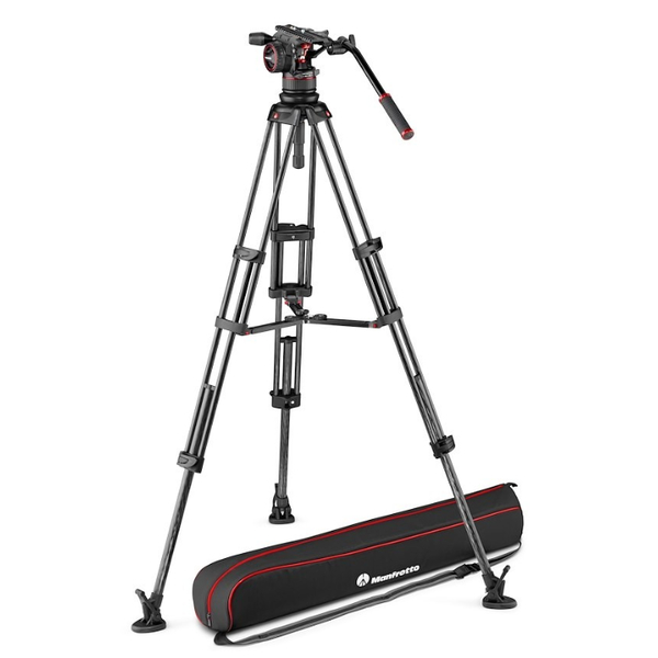 photo Manfrotto KIT trépied vidéo carbone double jambe + rotule fluide NitroTech N12 - MVKN12TWINMC