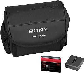 photo Sony Housse LCS-DVF + batterie NP-FF51 + cassette Mini DV Premium 60 min