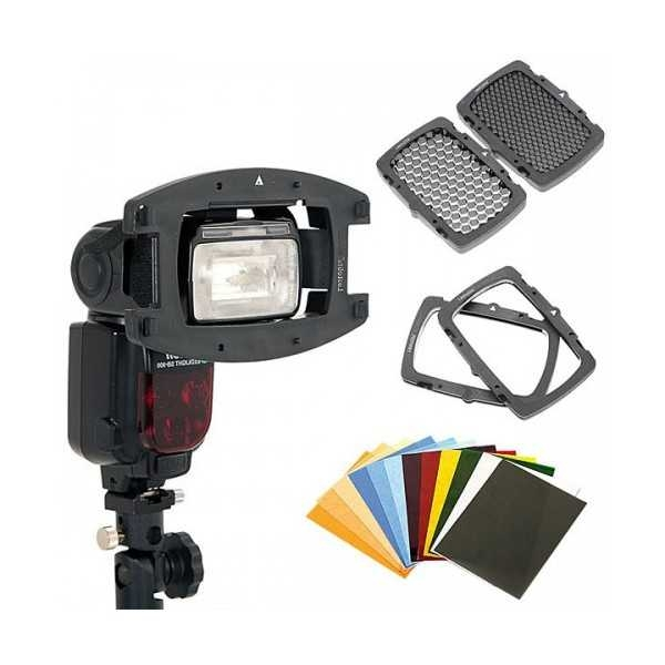 photo Pixel Flash Mago GN65 + Kit Strobo Flashgun pour Canon