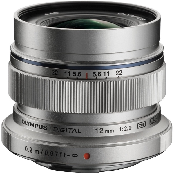 photo Olympus 12mm f/2 Argent Monture Micro 4/3 (MFT)