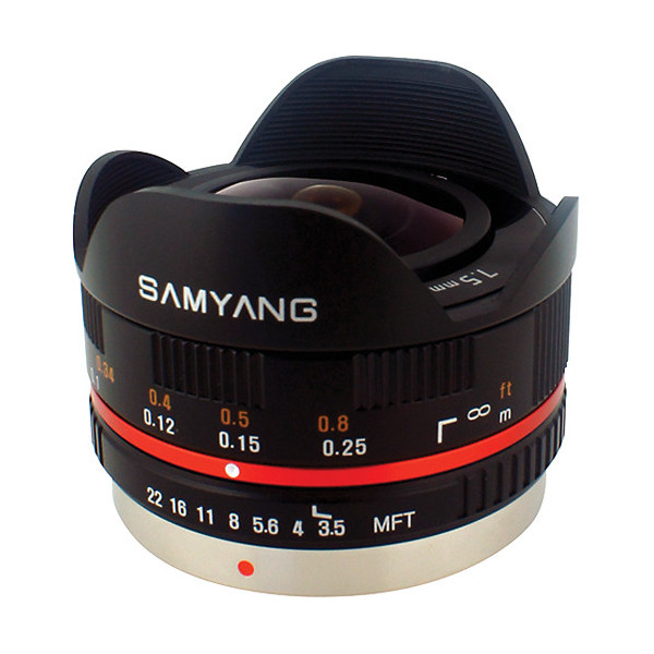 photo Samyang 7.5mm f/3.5 UMC Fisheye Noir Monture Micro 4/3