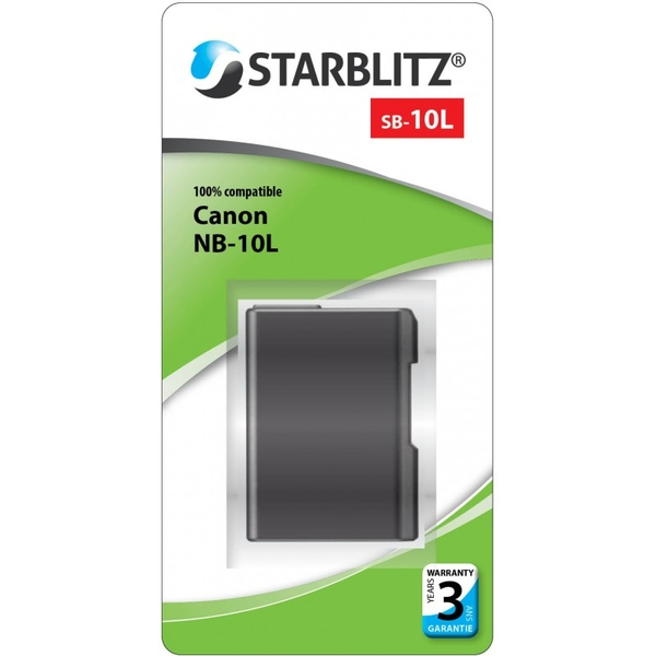 photo Starblitz Batterie Starblitz équivalente Canon NB-10L