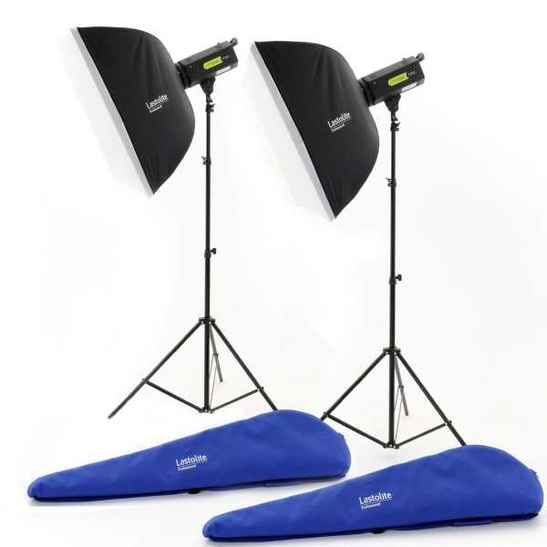photo Lastolite by Manfrotto Kit de 2 torches Lumen8 de 400W/s + 2 Bols +  2 softbox - LAS3509RTEU