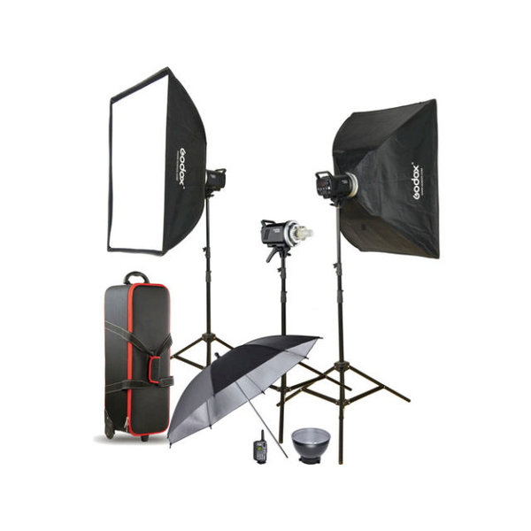 photo Godox MS300-D kit flash 3 torches 300 Ws