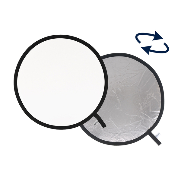 photo Lastolite by Manfrotto Réflecteur rond pliable blanc/argent 50cm - LAS2031