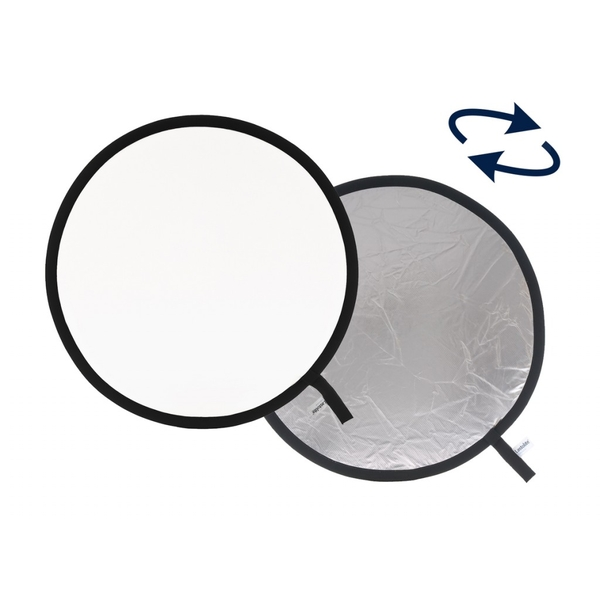 photo Lastolite by Manfrotto Réflecteur rond pliable blanc/argent 30cm - LAS1231